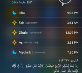 iPhone Islamic App - Today Widget